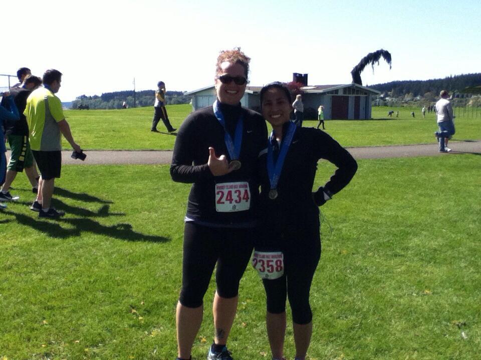 2014 Whidbey Half Marathon with Jaye