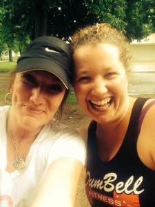 Me and Missy after our race! (Photo credit goes to her! I liked her selfie better than the one I took!)